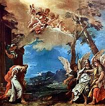 Abraham and the Three Angels, Sebastiano Ricci 1695
