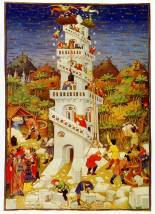 Building the Tower of Babel, The Bedford Book of Hours, c. 1423