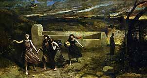 Burning of Sodom Camille Corot 1857 Royalty Free Images