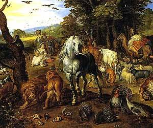 Entry of the Animals into Noah's Ark, Jan Brueghel the Elder 1613 Royalty-Free Images
