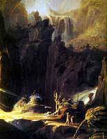 Royalty free images, Expulsion From the Garden of Eden, Thomas Cole 1827