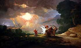 Lot Fleeing Sodom, Benjamin West 1810