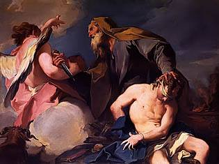 The Sacrifice of Isaac by Giambattista Pittoni c. 1720 Royalty Free Images