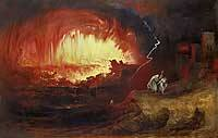 Sodom and Gomorrah by John Martin 1840 Royalty Free Images