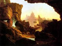 Subsiding Waters of the Deluge Thomas Cole 1829 Royalty Free Images