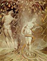 Temptation and Fall, William Blake 1808, royalty free images