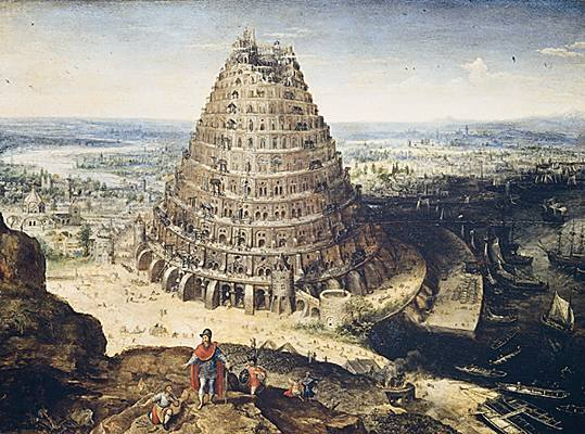 Tower of Babel by Lucas van Valckenborch, high resolution image