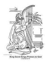 King David free Bible coloring page