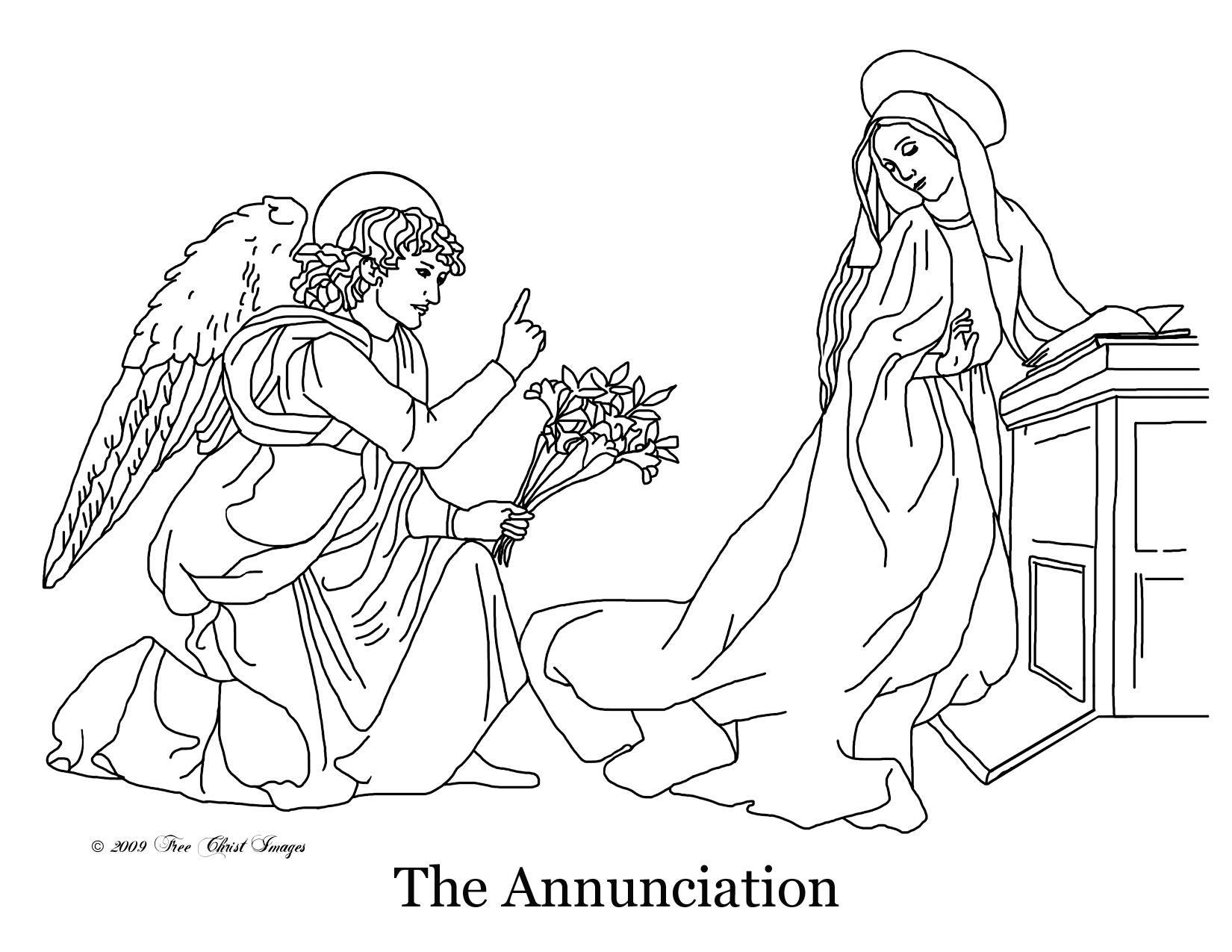 Dibujo de la Anunciación - Free Christimages title=