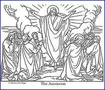 The Ascension Free Bible Coloring Page