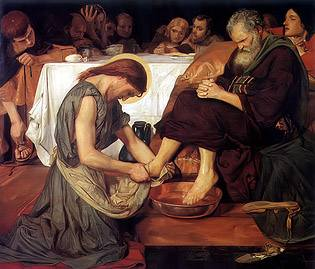 Christ Washing Peter's Feet by Ford Madox Brown Royalty Free Images