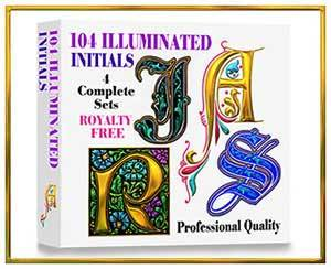 Illuminated Alphabet CD, Royalty Free