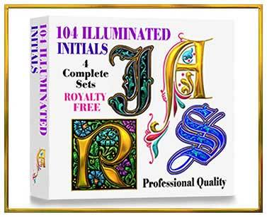 Illuminated Letters Alphabets on CD