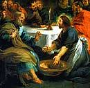 Jesus washes Peter's feet, John 13