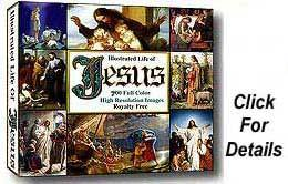 Life of Jesus Art CD, 500 Royalty Free, High Resolution Images