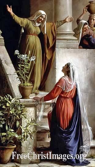 The Visitation by Carl Bloch, Luke 1