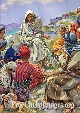The Sermon on the Mount, the Beatitudes, Matthew 5:1