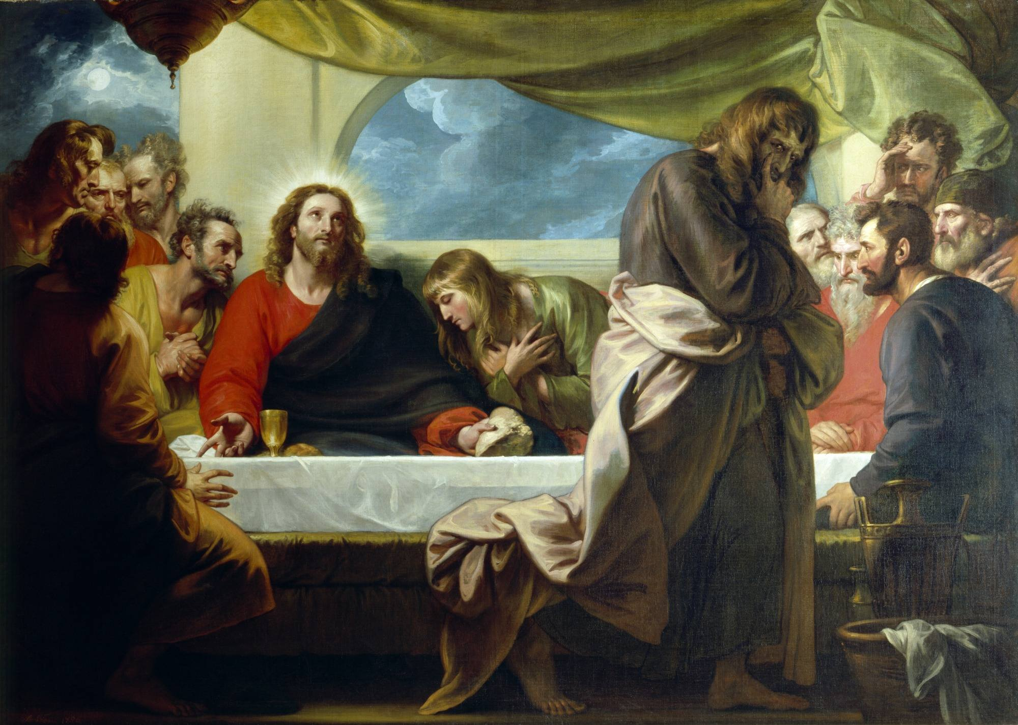 Featured on our Homepage, The Last Supper by Benjamin West
