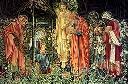 Adoration of the Kings, Sir Edward Burne-Jones, 1887, Royalty Free Images, Three Kings, Wise Men