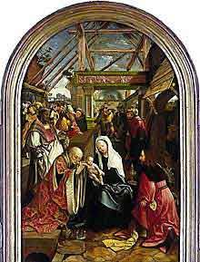 Adoration of the Magi by Cornelisz van Oostsanen, 1475