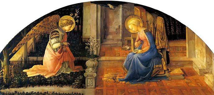 The Annunciation by Fra Filippo Lippi c. 1450