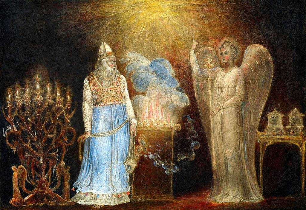 Zacharias And The Angel, William Blake dans immagini sacre Zacharias-AndThe-Angel-William-Blake