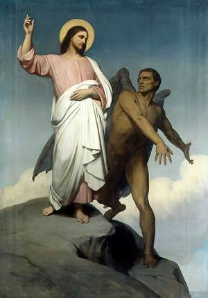 Ary Scheffer Christ Tempted of Satan 1854 Free Image Gallery