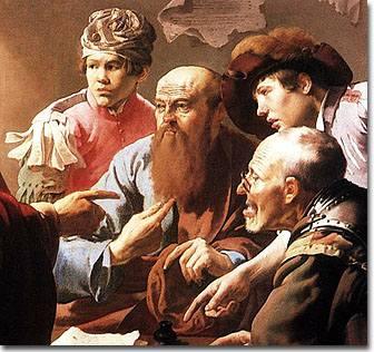 Jesus calls Levi, painting by Hendrick Terbrugghen 17th century
