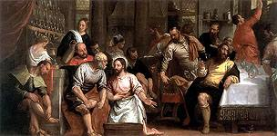 Christ Washing the Freet of His Disciples by Paolo Veronese Royalty Free Images