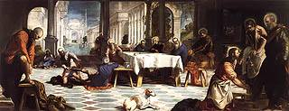 Christ Washing the Feet of His Disciples by Tintoretto Free Images