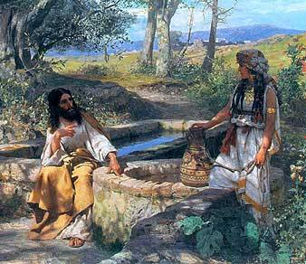 Christ and the Samaritan Woman at the Well, Henryk Siemiradzki, high resolution images