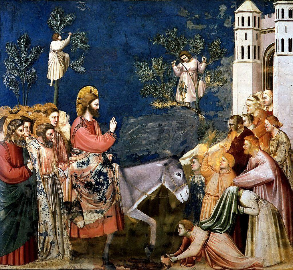 Christ Entering Jerusalem, Giotto di Bondone 1305