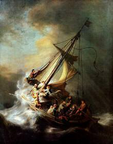 Christ In the Storm on the Sea of Galilee, Rembrandt van Rijn 1632, high resolution