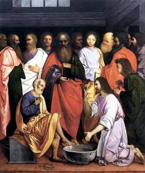 Jesus Washing The Feet of His Disciples, Giovanni Agostino da Lodi, c. 1500