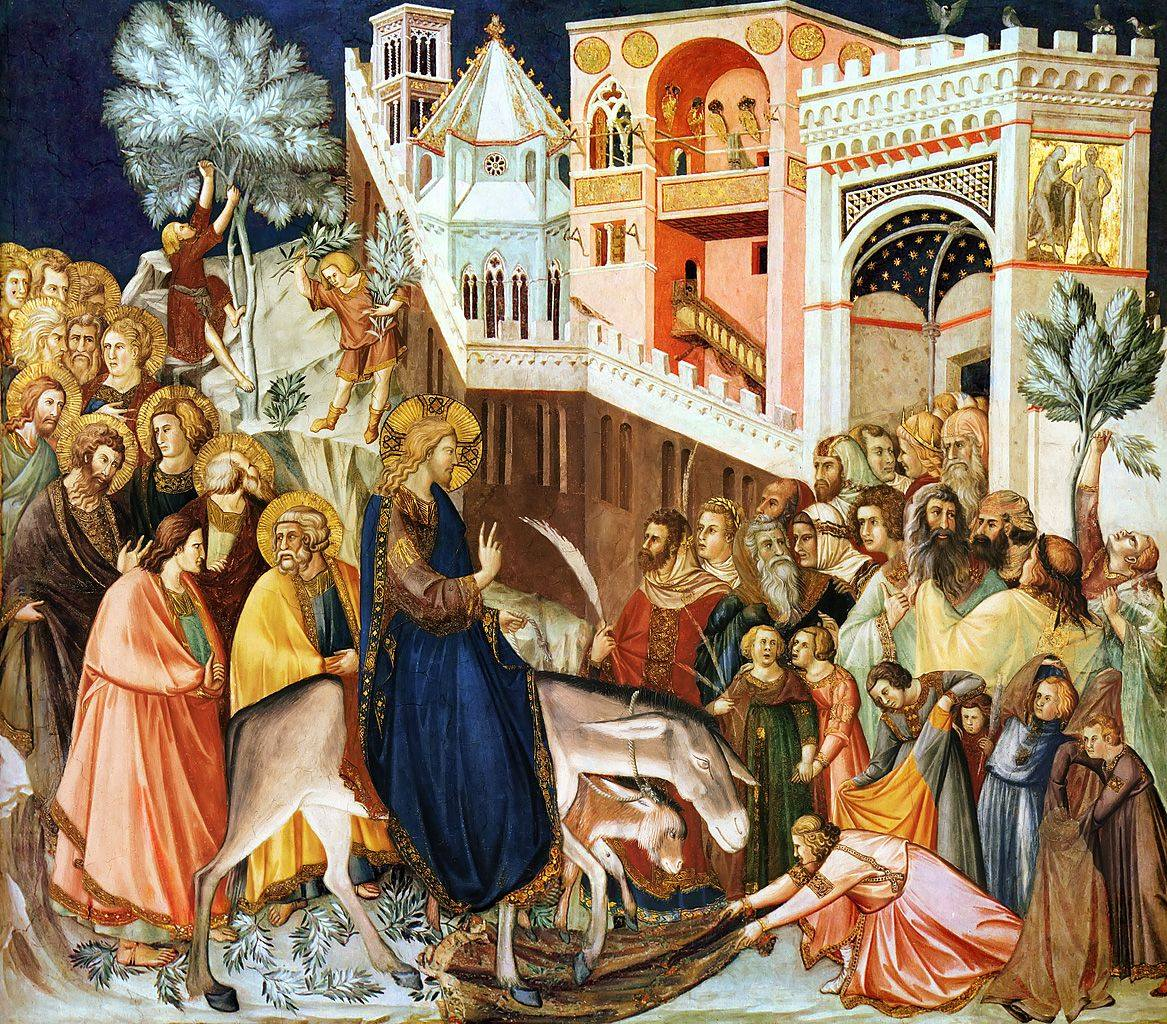 Entry Into Jerusalem by Pietro Lorenzetti, high res