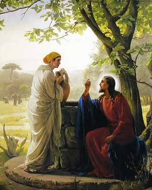 Jesus and the Woman of Samaria by Carl Bloch