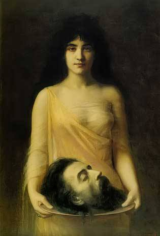 Salome with the head of John the Baptist, Jean Benner 1899, royalty free images