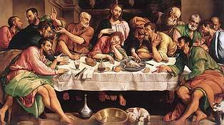 The Last Supper, Jacopo Bassano 1542