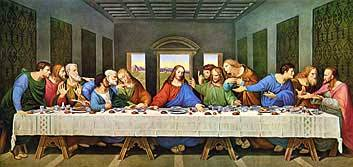 The Last Supper Restored, Leonardo Da Vinci 1495 Royalty Free Images