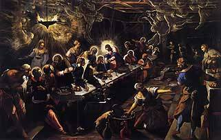 The Last Supper by Tintoretto c. 1592, Royalty Free Images