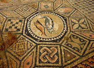 Ancient Fish Symbol Mosaic