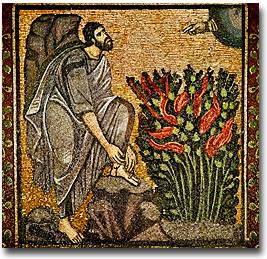 Moses And The Burning Bush, Byzantine Mosaic, Catherine's Monastery