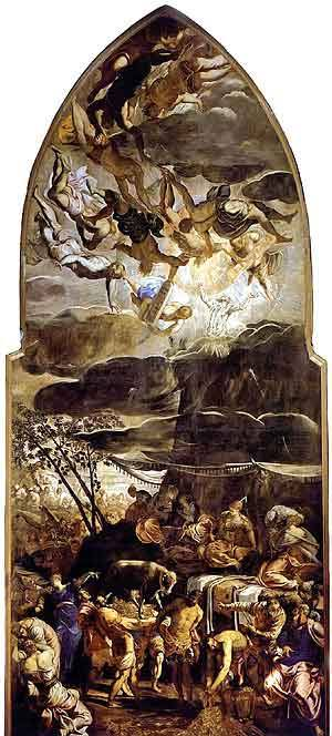 Moses Receiving the Tables of Law, Tintoretto Royalty Free Images