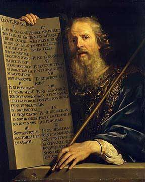 Moses with the Ten Commandments, Philippe de Champaigne 1648 Royalty Free Images
