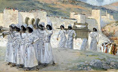 Seven Trumpets of Jericho, James Jacques Joseph Tissot, high resolution