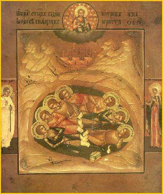 Seven Sleepers of the Churches of Asia, high resolution images