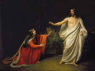 The Appearance of Christ to Mary Magdalene, Alexander Ivanov, c. 1834 Royalty Free Images