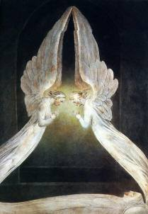 Christ in the Sepulcher Guarded by Angels,William Blake, Royalty-Free Images