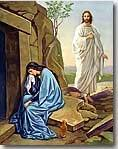 Jesus Appears to Mary Magdalene royalty free images