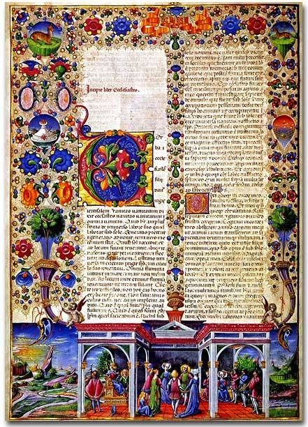 Illuminated Manuscript Bible, high resolution